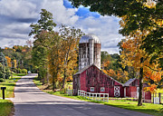 Farmland Posters - Rural Roads Poster by Bill  Wakeley