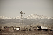 Aged Photo Photos - Rural Rustic Colorado Longs Peak Country View by James Bo Insogna