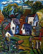 Distortion Painting Prints - Rural Wahenberg Print by Charlie Spear