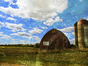 Rural Scenes Digital Art - Rural WI Barn w texture by Anita Burgermeister