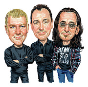 Caricature Metal Prints - Rush Metal Print by Art