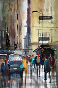 Illinois Painting Framed Prints - Rush Hour 2 - Chicago Framed Print by Ryan Radke