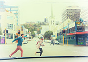 Road Running Prints - Rush Hour Print by Constance Fein Harding