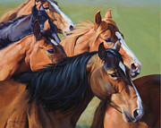 Saddle Paintings - Rush by Michelle Grant
