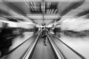 Escalator Prints - Rush Print by Semmick Photo