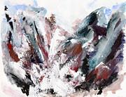 Rushing Down The Cliff Print by Lidija Ivanek