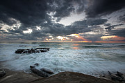 Seascape. Winter Prints - Rushing Seas Print by Peter Tellone