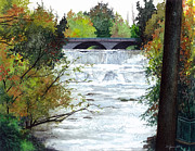 Rushing Water Paintings - Rushing Water - Quiet Thoughts by Barbara Jewell