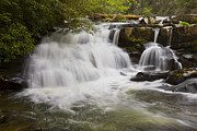 Rock Spring Trail Prints - Rushing Waters Print by Debra and Dave Vanderlaan