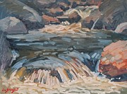 Fast Paintings - Rushing Waters by Len Stomski