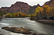 Relaxed Framed Prints - Rushing Waters of the Salt River Framed Print by Dave Dilli