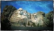 Thomas Jefferson Digital Art Posters - Rushmore Poster by Perry Webster