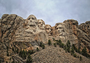 Thomas Jefferson Posters - Rushmore Poster by Tricia Marchlik