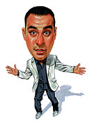 Standup Comedy Framed Prints - Russell Peters Framed Print by Art
