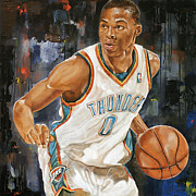 Nba Art - Russell Westbrook Poster by Sanely Great
