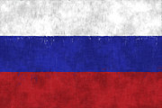 Russia Digital Art - Russia Flag by World Art Prints And Designs