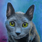 Jindra Noewi Art - Russian Blue by Jindra Noewi