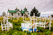 Russian Cross Photos - Russian Orthodox Church in Ninilchik Alaska by Natasha Bishop