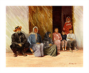 Russia Painting Originals - Russian peasant family. by Robert Boyd