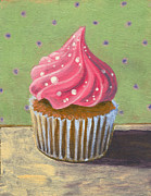 Black Diet Paintings - Russian Pink Cupcake by Marco Sivieri