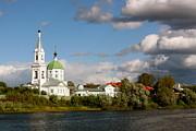 Russian_church_volga-river Print by Elena Ouspenskaia