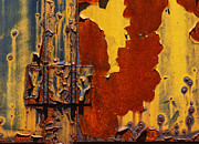 Shed Digital Art Metal Prints - Rust Abstract Metal Print by Jack Zulli