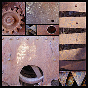 Machinery Photo Posters - Rust and Metal Abstract  Poster by Ann Powell