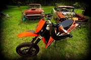 Ktm Framed Prints - Rust and Orange Framed Print by Brad Kline