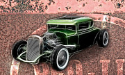 Graffitti Coupe Prints - Rust and Rods Print by Steve McKinzie