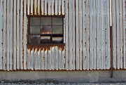 Rivets Art - Rust and Window 1 by Anita Burgermeister