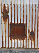 Rivets Art - Rust and Window 3 by Anita Burgermeister