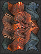 Photo Manipulation Metal Prints - Rust Flow Metal Print by Wendy J St Christopher