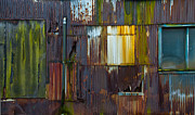 Wet Window Framed Prints - Rust Rainbow Framed Print by Sarah Crites