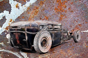Ford Lowrider Prints - Rust Rat Print by Steve McKinzie