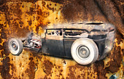 Ford Lowrider Prints - Rust Sedan Print by Steve McKinzie