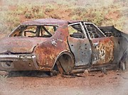 Philip White - Rusted Car in the Desert...