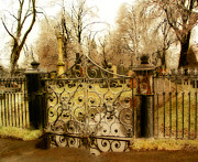 Froze Framed Prints - Rusted Cemetery Gate Framed Print by Gothicolors And Crows