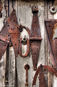 Wooden Barn Posters - Rusted Past Poster by Benanne Stiens