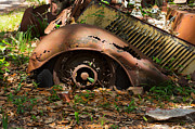 Rusted Cars Framed Prints - Rusted Remains Framed Print by Louise Heusinkveld