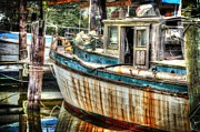 Shrimp Boat Originals - Rusted Wood by Michael Thomas