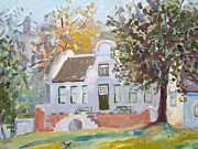 Verandah Paintings - Rustenberg Manor by Elinor Fletcher
