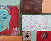 Buddhist Paintings - Rustic and Elegance by Shari Bird Adams