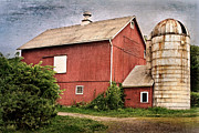 Red Barn Posters - Rustic Barn Poster by Bill  Wakeley