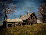 Barns Digital Art - Rustic Barn in Sussex New Jersey by Pamela Phelps