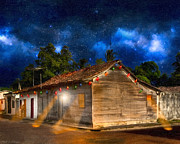 Costa Digital Art Prints - Rustic Beauty of Costa Rica At Night Print by Mark E Tisdale