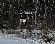Northwoods Photos - Rustic cabin by Robert Krzmarzick