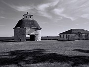 White Barns Prints - Rustic Charm 2 Print by Tom Druin