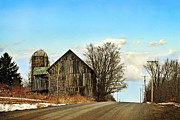 Farming Barns Digital Art Posters - Rustic Country Barn Poster by Christina Rollo
