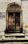 Ancient Doors Digital Art Framed Prints - Rustic Doorway Zanzibar Framed Print by Amyn Nasser
