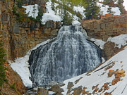 National Mixed Media Posters - Rustic Falls - Yellowstone National Park - Glen Creek Poster by Photography Moments - Sandi